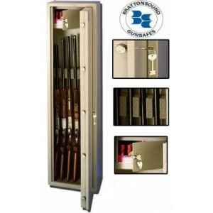 BRATTONSOUND RL5+ GUNSAFE/RIFLE/GUN CABINET   4/5 GUN   INTERNAL LOCKING TOP