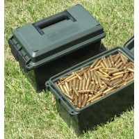 MTM PLASTIC 50 CALIBRE AMMO CAN (MILITARY BLACK IN COLOUR)