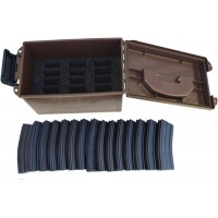 MTM TACTICAL M4 MAGAZINE CAN (HOLDS 15 MAGAZINES)