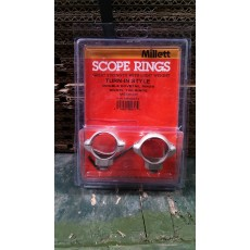 "Millett 1"" Turn-In-Style Medium Nickel Scope Rings"