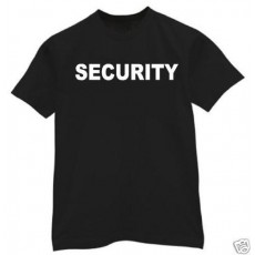 SECURITY MENS BLACK T-SHIRT