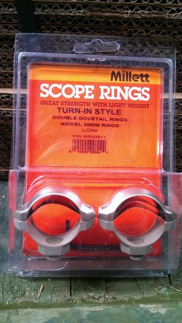 "Millett Millett 1"" Turn-In-Style Low Nickel Scope Rings"