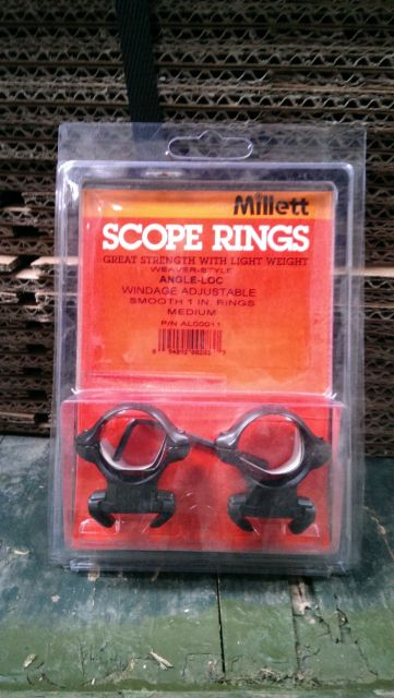 "Millett Millett 1"" Weaver Style Angle Loc Medium Rings"