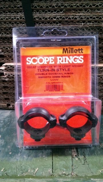 Millett Millett 30mm Turn-In-Style Medium Scope Rings