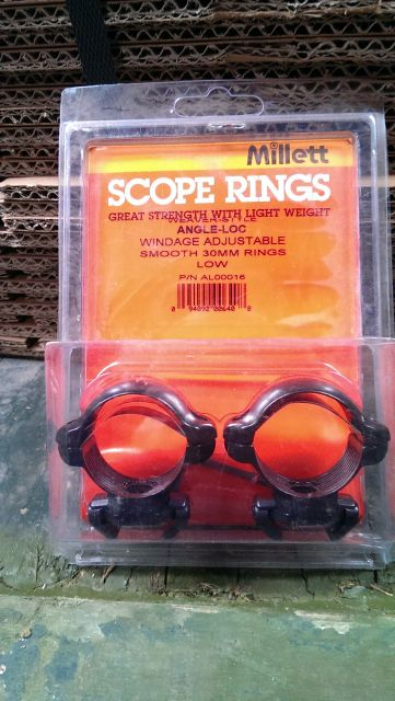 Millett Millett 30mm Weaver Style Angle Loc Low Rings