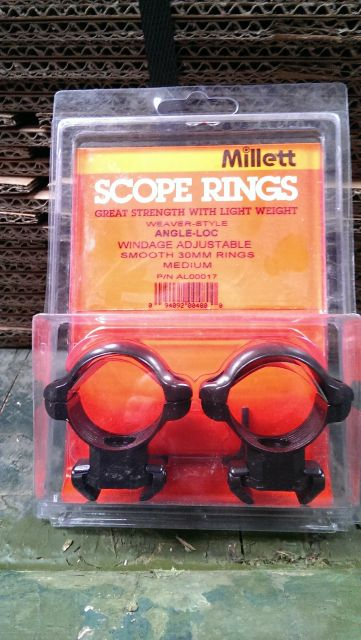 Millett Millett 30mm Weaver Style Angle Loc Medium Rings