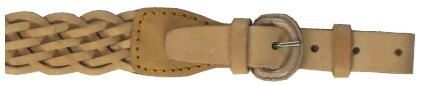 Plaited Brown Leather Air Rifle Sling