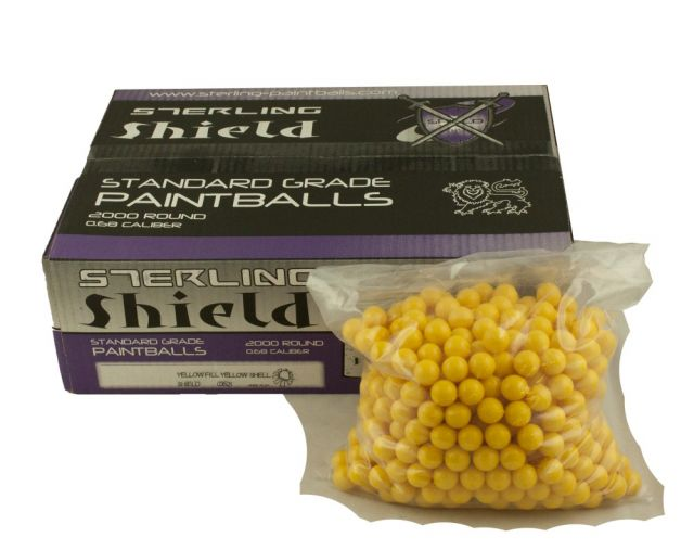 2000 YELLOW PAINTBALLS 0.68CAL - BEST VALUE