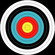 40CM COMPETITION ARCHERY TARGET FACES (ROLL OF 10)