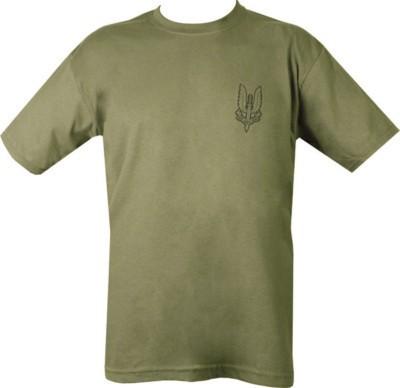 SAS WHO DARES WINS OLIVE T-SHIRT