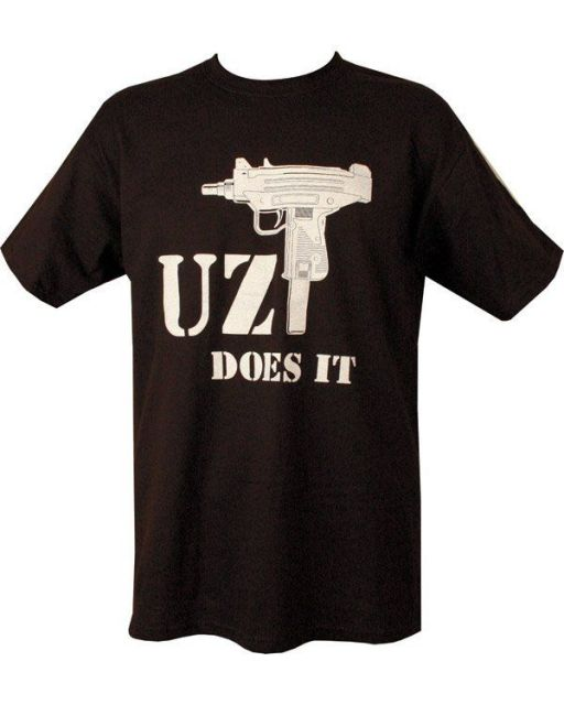 UZI DOES IT BLACK T-SHIRT